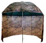 Deštník s bočnicí 2,5 m Camo PVC Moss Delphin