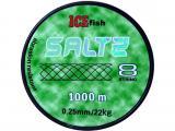 Pletená šňůra Saltz 1000m 0,25 mm / 22kg