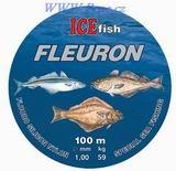 Vlasec na mořské návazce ICE fish Fleuron 100m 0,60 - 1,2mm