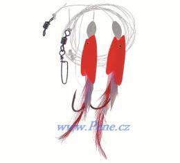 Návazec na moře Ryba fólie peří A červená ICE fish - zvětšit obrázek