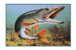 Rohožka Delphin 3D Štika 60x40 cm - zvětšit obrázek