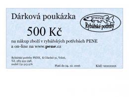 Dárkový poukaz na rybářské potřeby v ceně 300 - 5000 Kč - zvětšit obrázek