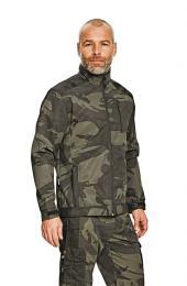 Rybářská softshellová bunda maskáčová - zvětšit obrázek