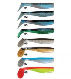 Vláčecí ryba SD 2B 13cm / 8ks ICE fish (kopyto) dvojbarevná - zvětšit obrázek