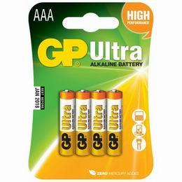 Alkalická baterie GP AAA - UltraAlkaline - zvětšit obrázek