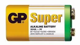 Alkalická baterie GP 9V SuperAlkaline - zvětšit obrázek