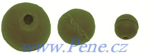 Carp System Gumová kulička zelená 20ks 4, 6 a 8mm Carp system