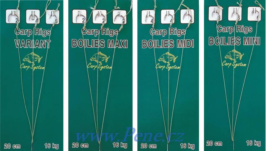 Carp System Návazce kaprové C.S navázané háčky na boilies 3ks návazec