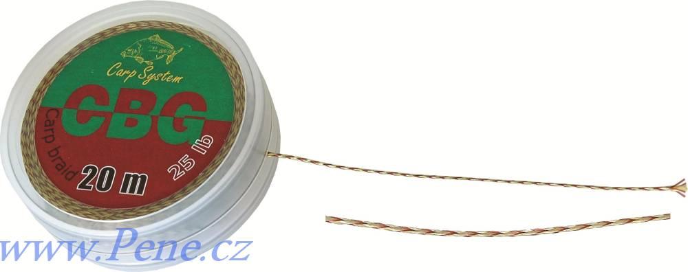 Carp System Návazcová šňůrka CBG 20m Carp system šňůra 15 a 25 Lbs