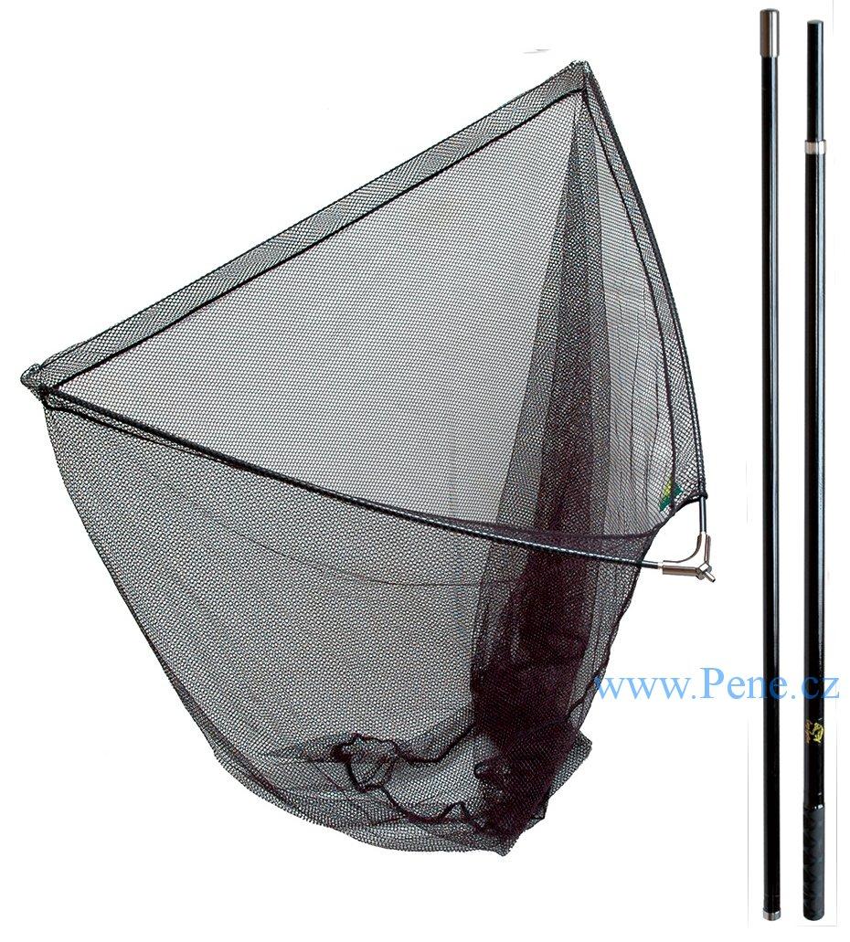 Carp System Kaprový dvojdílný podběrák 100 x 100 cm délka 180 cm + plovák