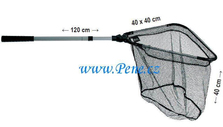 JSA fish Rybářský podběrák dvojdílný plastový kříž 120 cm 50x50cm