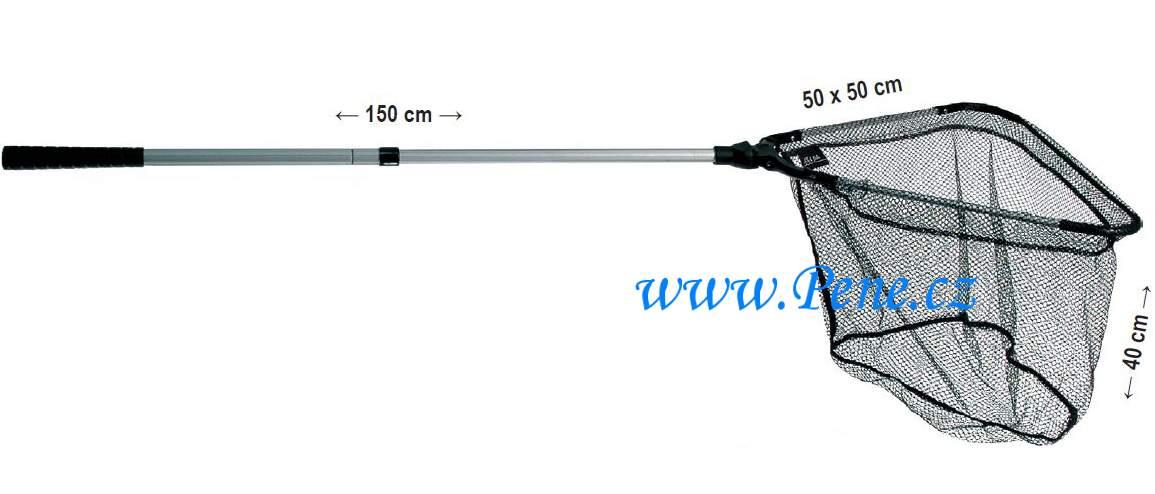 JSA fish Rybářský podběrák dvojdílný plastový kříž 150 cm 50x50cm
