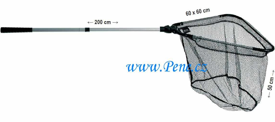 JSA fish Rybářský podběrák dvojdílný plastový kříž 200 cm
