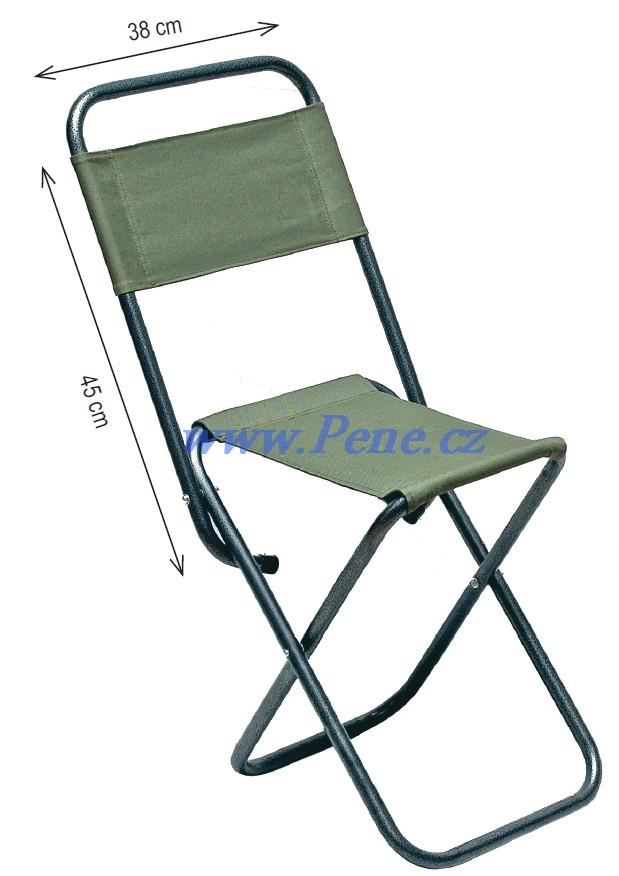 JSA fish Rybářská židlička s opěrkou zelená zesílená Carpsystem