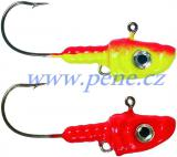 Jig s očkem a 3D očima barvený 14g ICE fish