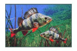 Rohožka Delphin 3D Okoun 60x40 cm - zvětšit obrázek