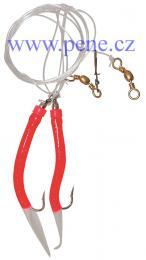 Návazec Trubičky RF 8/0 červené s fosforovým ocáskem,úhořík - zvětšit obrázek