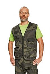 Lehká rybářská maskáčová vesta - zvětšit obrázek