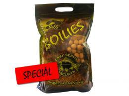 Boilies Boss2 Speciál Játra - Vanilka 2,5 kg, Carp Servis