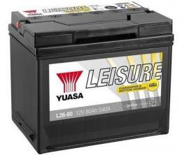 Trakèní baterie GS-YUASA Leisure 80Ah, 12V, 540A, baterie pro volný èas