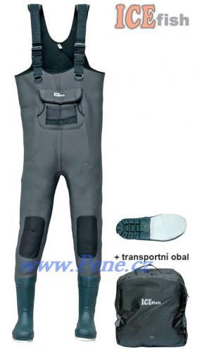 Brodící kalhoty neopren 5mm s filcovou podrážkou,pošt. zdarm