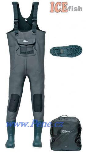 Brodící kalhoty neopren 5mm s gumovou podrážkou