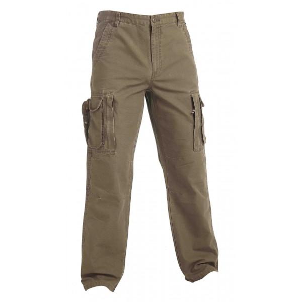 Rybáøské kalhoty khaki bavlnìné - zvìtšit obrázek
