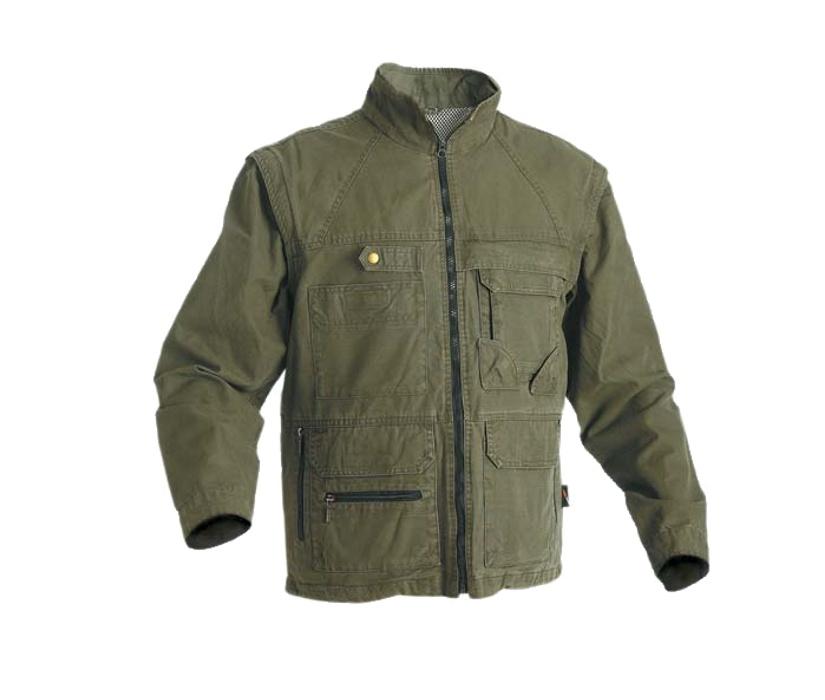 Rybáøská bunda khaki s odepínatelnými rukávy bavlnìná - zvìtšit obrázek