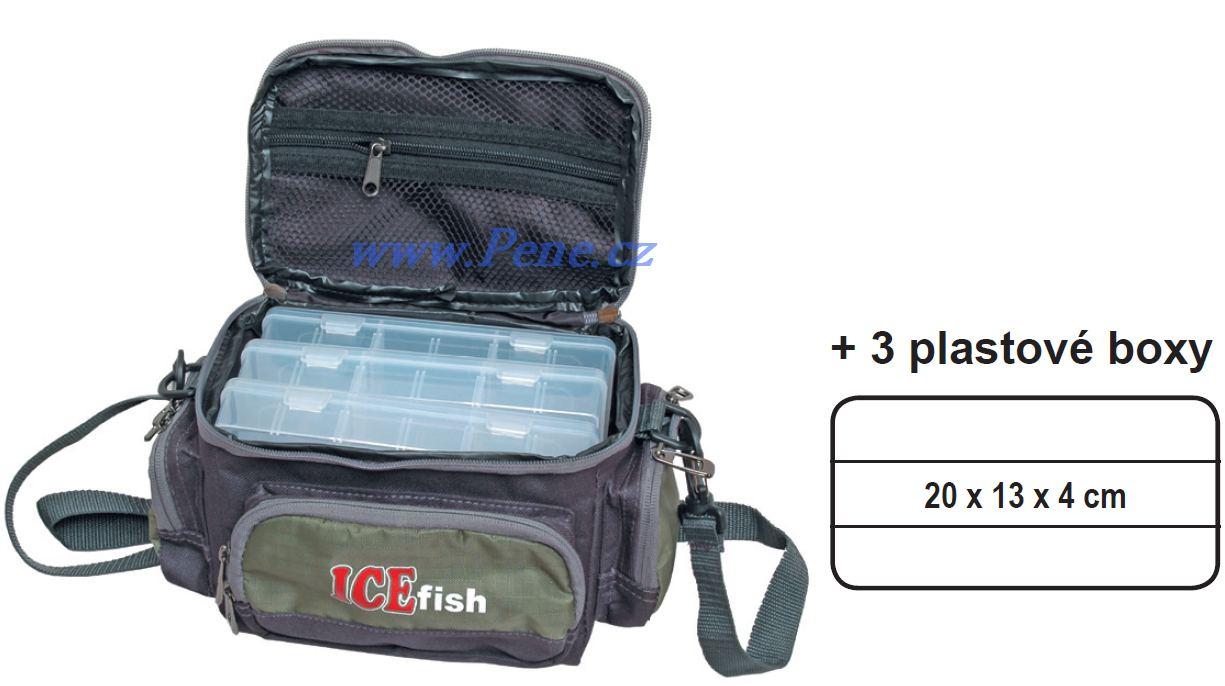 Taška s boxy I, krabièkami ICE fish pøívlaèová taška - zvìtšit obrázek