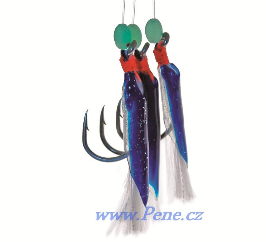 Návazec na moøe  Gumièky modré 5/0  ICE fish - zvìtšit obrázek