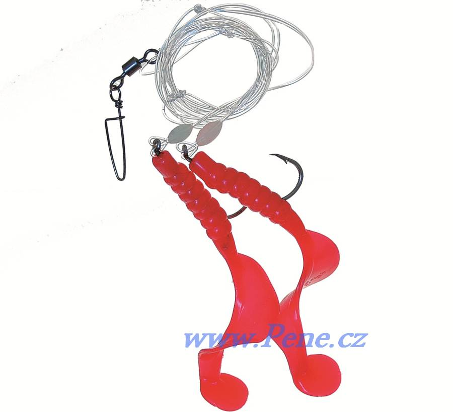 Návazec na moøe Twistry èervené A 9 cm ICE fish - zvìtšit obrázek