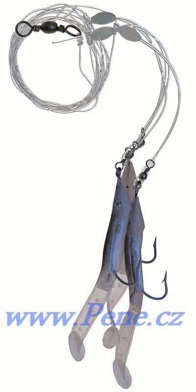 Návazec na moøe Úhoøíci èerno/støíbrný 4/0 - 9cm ICE fish - zvìtšit obrázek