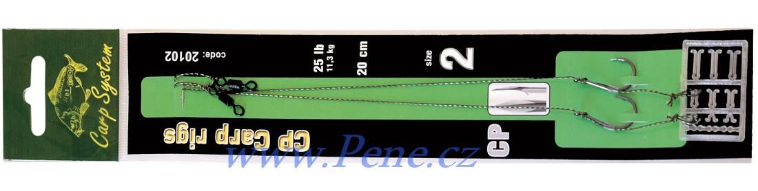 Kaprové návazce CP 2ks Carp system návazec na boilies C.S. - zvìtšit obrázek