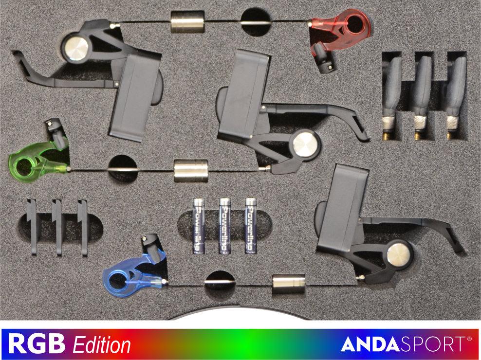 ANDA indikátory- 3ks v kufírku ,dioda È+Z+M - zvìtšit obrázek