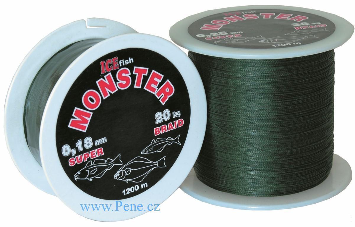Pletená šòùraICE fish Monster 1 mm / 120 kg (1m - 1200m) - zvìtšit obrázek