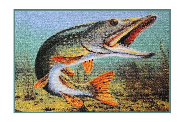 Rohožka Delphin 3D Štika 60x40 cm - zvìtšit obrázek