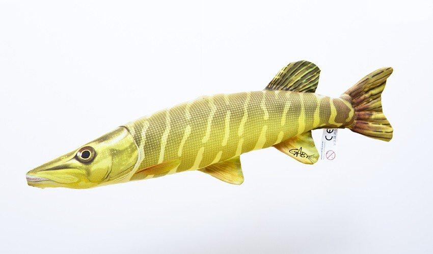 Plyšový polštáø štika obecná 44 cm malá, polštáøek - zvìtšit obrázek