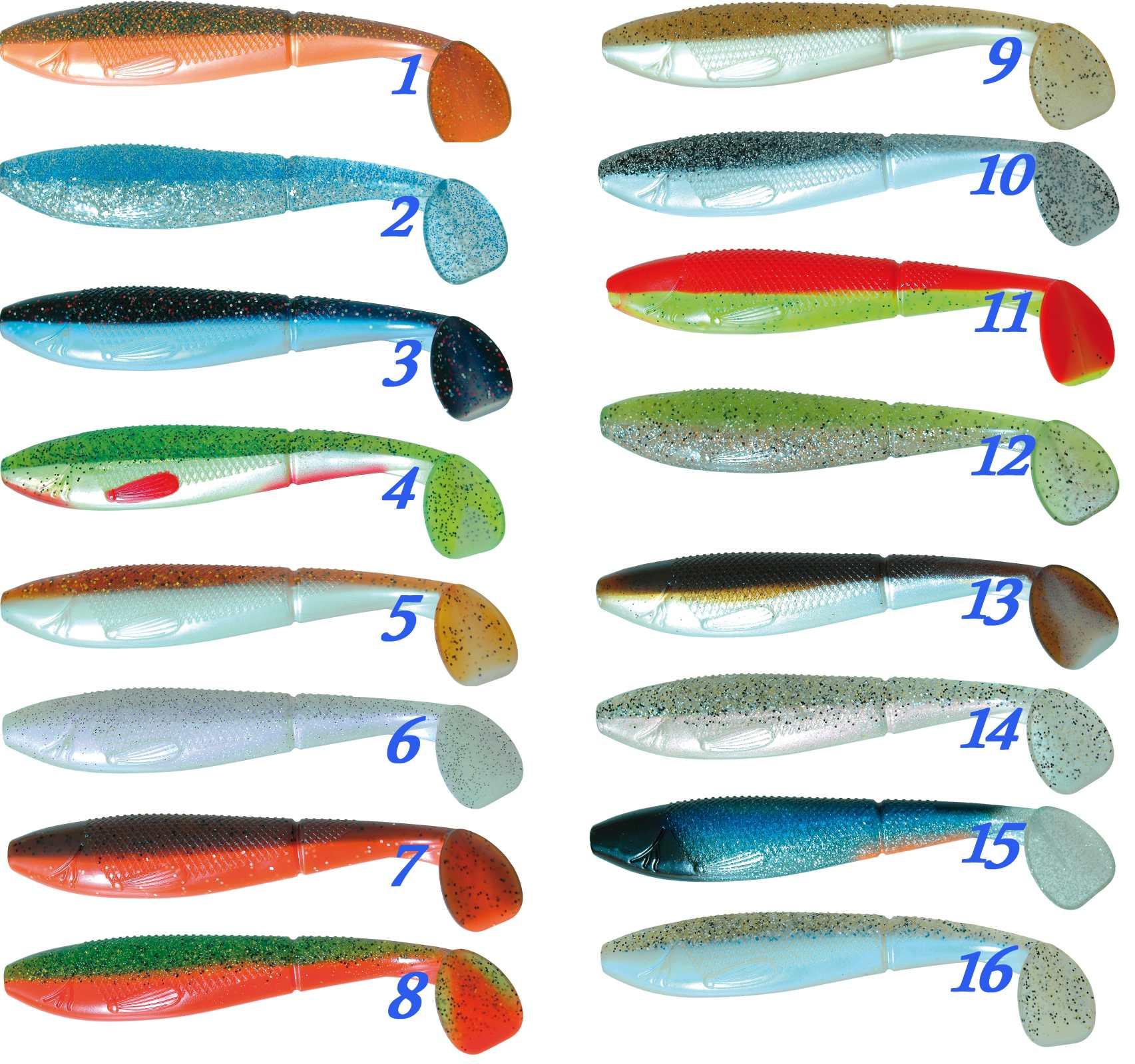 Gumová nástraha Atoka Scaler 10cm / 3ks rybí aroma, riper - zvìtšit obrázek