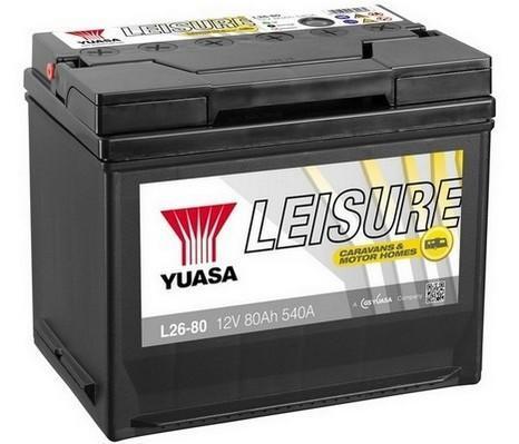 Trakèní baterie GS-YUASA Leisure 80Ah, 12V, 540A, baterie pro volný èas - zvìtšit obrázek