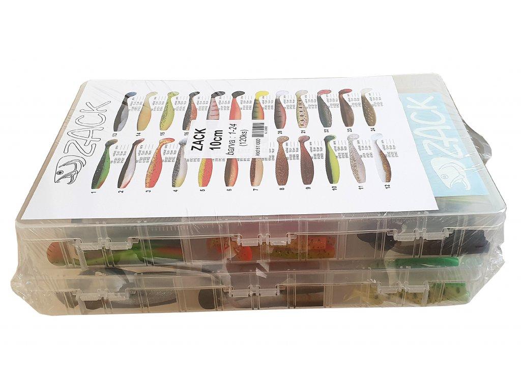 Sada vláèecích ryb Zack 10 cm v plastových krabicích délka - zvìtšit obrázek