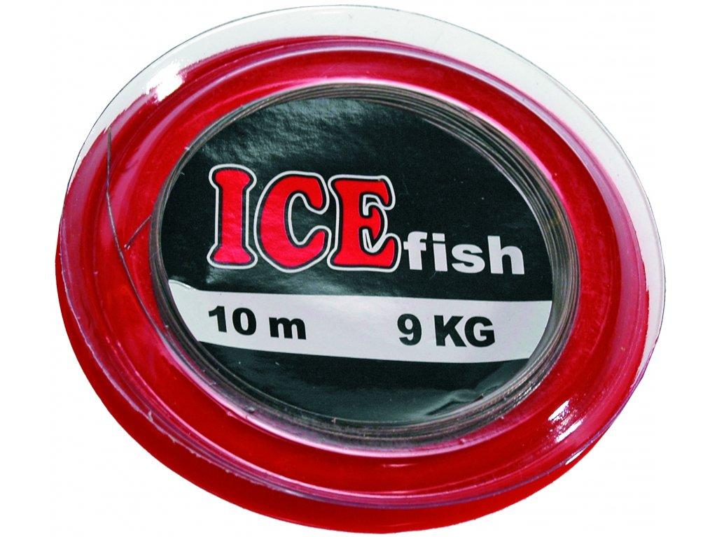 Rybáøské lanko na koleèku 10m + 10 spojek ICE fish - zvìtšit obrázek