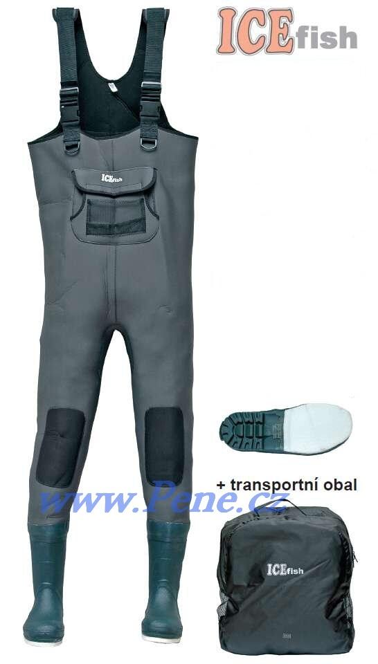 Brodící kalhoty neopren 5mm s filcovou podrážkou,pošt. zdarm - zvìtšit obrázek