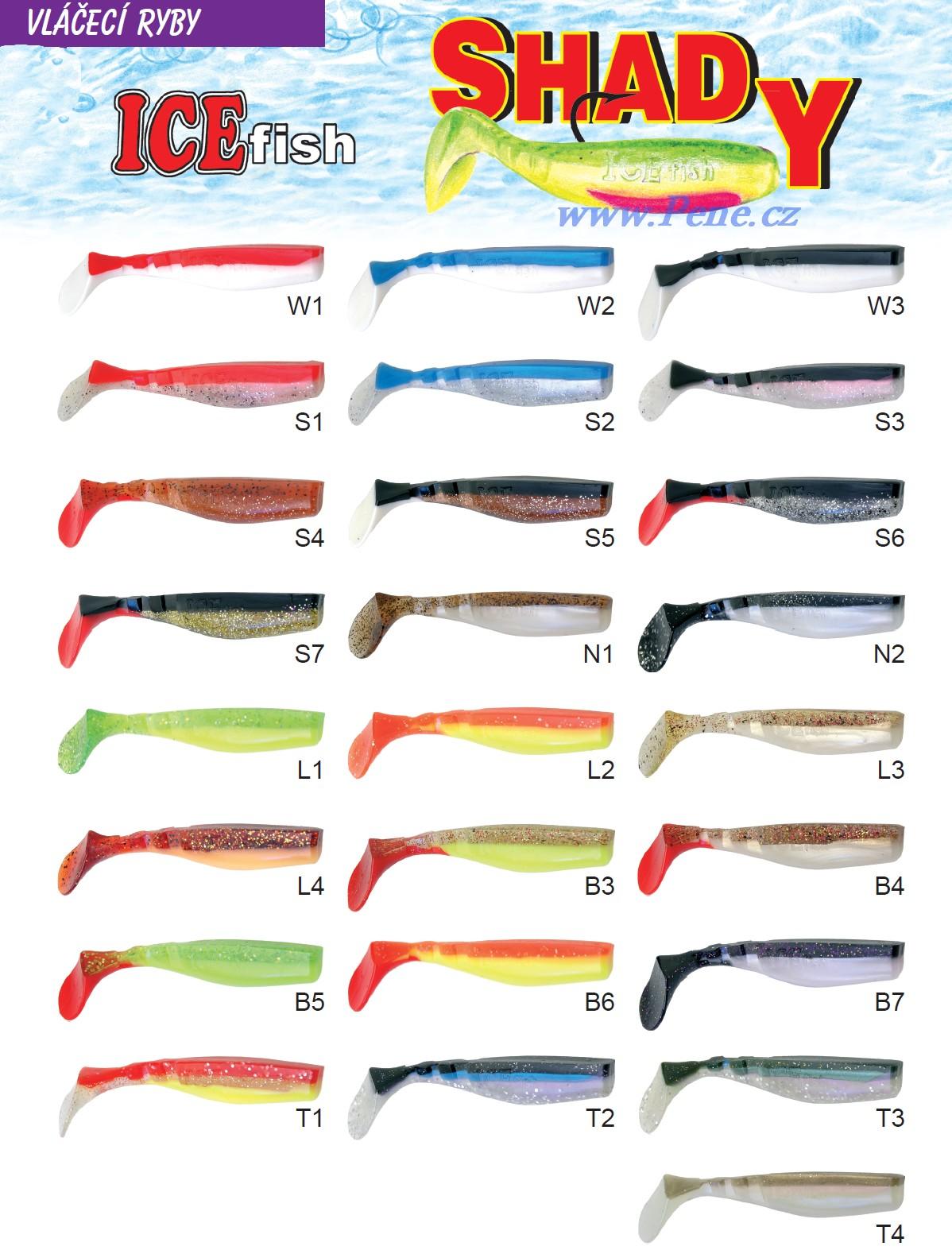 Rybáøské vláèecí ryby Shady riper 7,5cm ICE fish ( kopyto) - zvìtšit obrázek