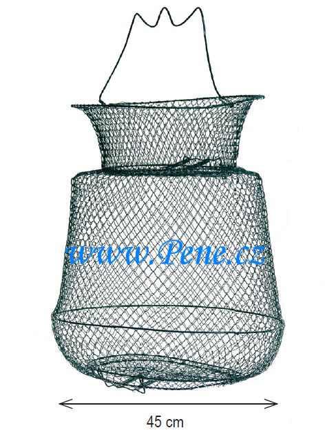 Rybáøský drátìný vezírek kulatý prùmìr 45 cm - zvìtšit obrázek