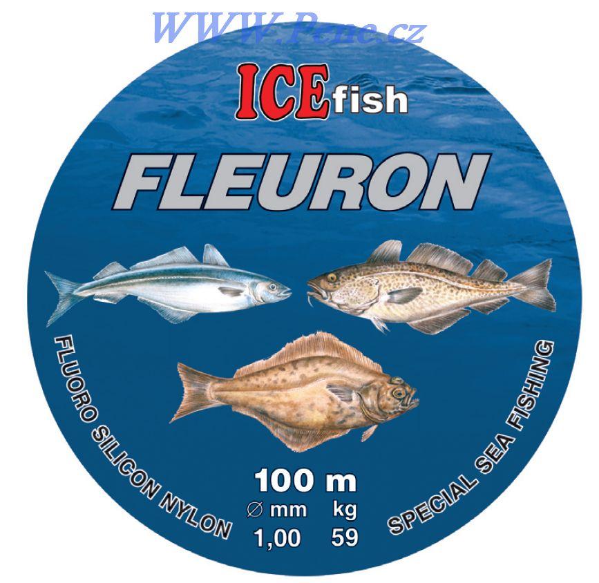 Vlasec na moøské návazce ICE fish Fleuron 100m 0,60 - 1,2mm - zvìtšit obrázek