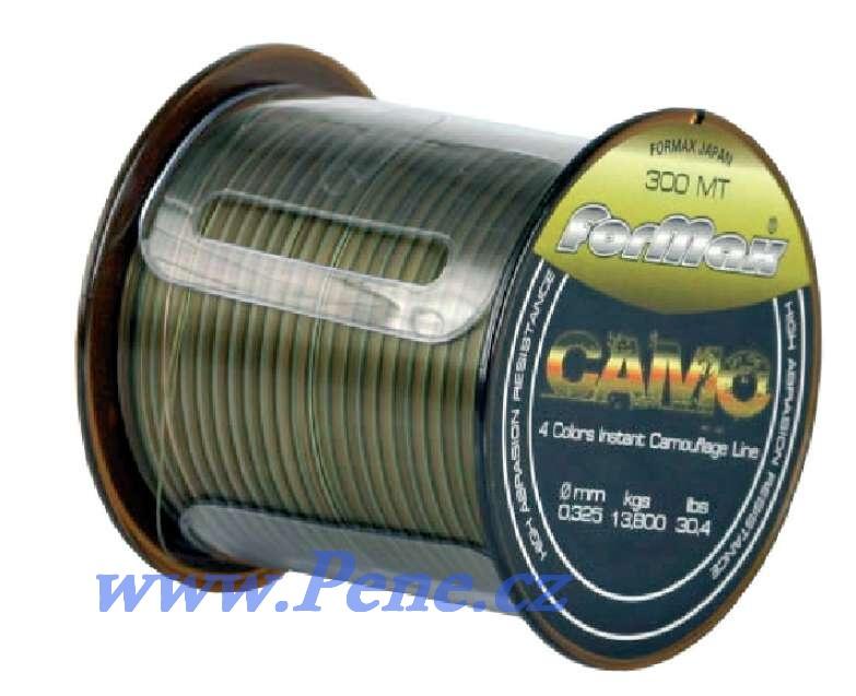 Rybáøský vlasec Formax Camo 1200m 0,255 0,286 0,325 0,358 mm - zvìtšit obrázek